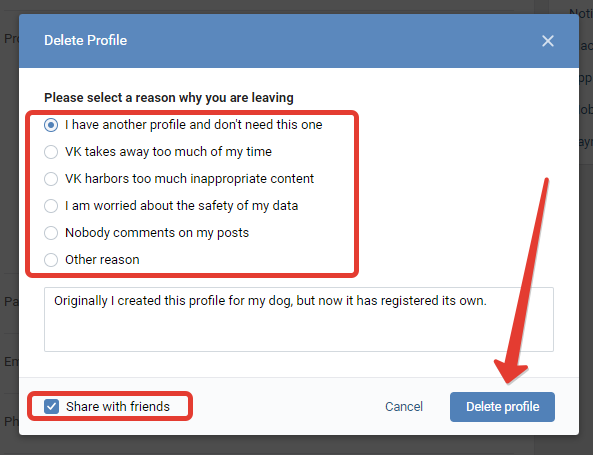 How to delete your VK account permanently