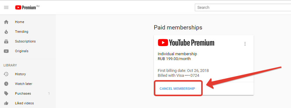 How to cancel Youtube (Premium) Red subscription
