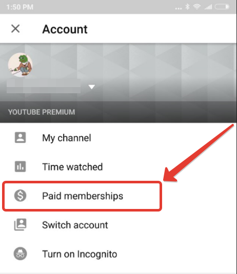 How to cancel Youtube Red on Android device