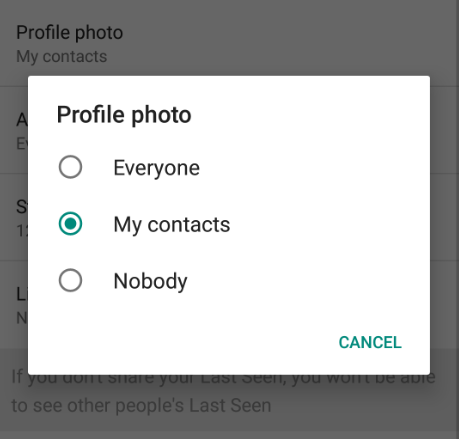 How to change who can see your WhatsApp profile photo and status