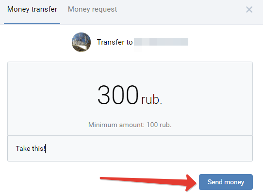 How to send money on VK (Vkontakte)