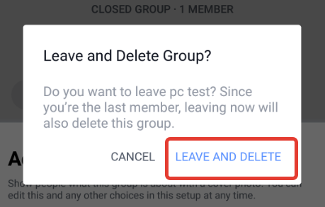 How to delete a group on Facebook app on Android