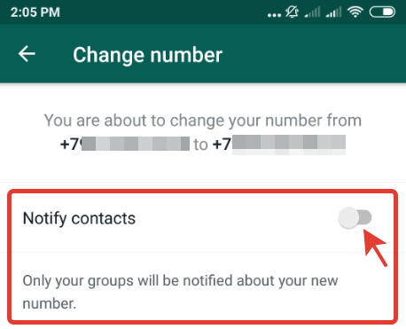 How to change your WhatsApp phone number without notification