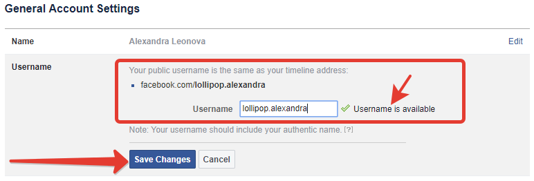 How to replace your username URL on Facebook