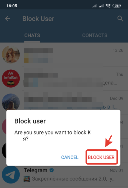 How to block someone on Telegram | ban certain person