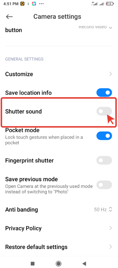 How to turn off the Camera shutter sound on your  Xiaomi smartphone